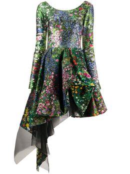 Natasha Zinko расклешенное платье асимметричного кроя с цветочным принтом R2010233