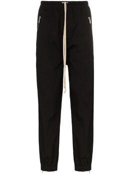 Rick Owens спортивные брюки Tecuatl с молниями RU20S7378TE