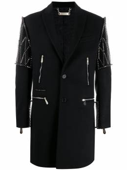 Philipp Plein однобортное пальто с заклепками S20CMRA0314PTE003N