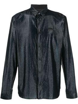 Philipp Plein рубашка с длинными рукавами и эффектом металлик S20CMRP1185PTE003N