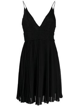 Givenchy плиссированное платье с кружевом BW20UZ2Z08