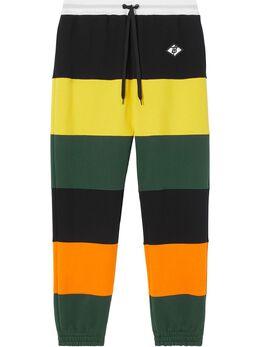 Burberry спортивные брюки в полоску колор-блок 8024430