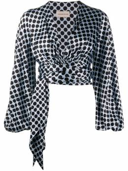 Alexandre Vauthier блузка с запахом 201TO115102011220