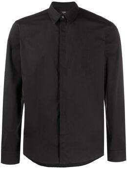 Fendi рубашка с узором FF FS0817AAP6