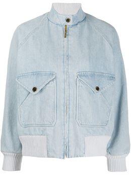 Alberta Ferretti джинсовая куртка-бомбер V06121678