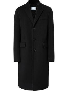 Burberry однобортное пальто 8019536