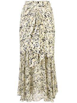 Proenza Schouler многослойная длинная юбка с принтом R2025022BYP173