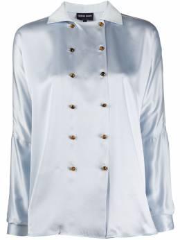 Giorgio Armani двубортная блузка 0SHCCZ03TZ487