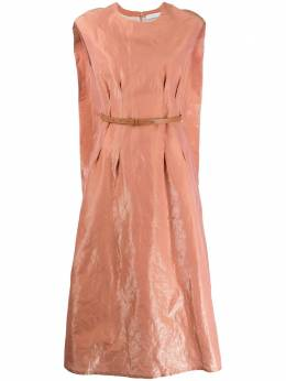 Fabiana Filippi платье-трапеция с кейпом ABD260W3110000A551