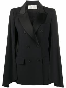 Alberta Ferretti двубортный пиджак-кейп A05034218