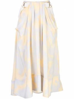 Proenza Schouler юбка миди с принтом и поясом R2025021BYP43