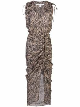 Veronica Beard платье миди со змеиным принтом 2001GGT012264