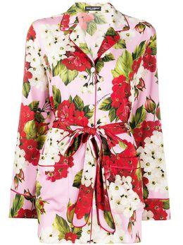 Dolce&Gabbana блузка с цветочным принтом F5I89TFSAZW