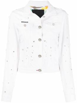 Philipp Plein джинсовая куртка с кристаллами S20CWDB0362PDE004N
