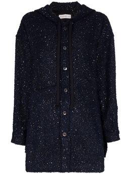 Faith Connexion куртка на пуговицах с капюшоном и пайетками X1810T00541