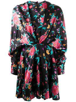 The Attico платье с цветочным принтом и сборками 201WCA19P021