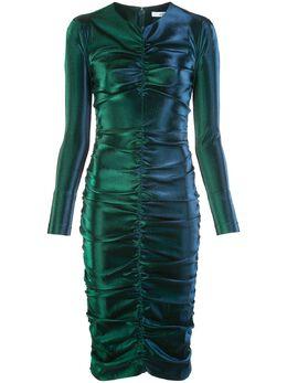 Area платье с эффектом металлик и сборками RE20D12070