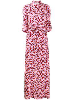 Dvf Diane Von Furstenberg платье Amina с запахом и цветочным принтом 13999DVF