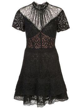 Jonathan Simkhai платье мини с кружевной вставкой 1201083A