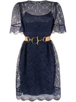 Alberta Ferretti платье с кружевным верхом A54021631