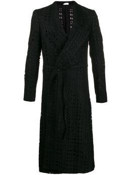 Comme Des Garcons Homme Plus пальто с вырезами и поясом на завязках PDJ044W19