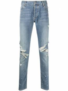 Balmain джинсы скинни с эффектом потертости TH15230Z037