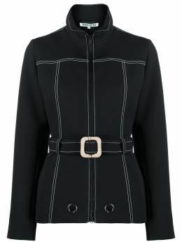 Kenzo куртка с поясом и контрастной строчкой FA52VE0105AL