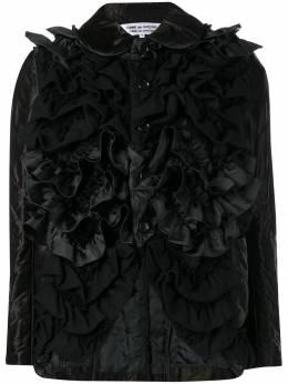 Comme Des Garcons Comme Des Garcons приталенная куртка с оборками RBJ011W18