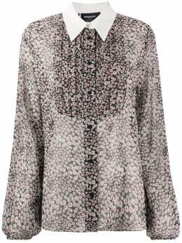 Rochas рубашка с рукавами колокол и с цветочным принтом ropq600297rq281630b