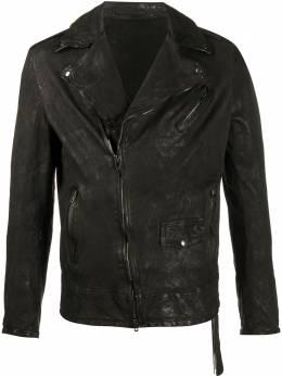 Salvatore Santoro куртка на молнии с эффектом потертости 38528U