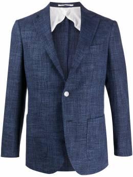 Barba однобортный пиджак из ткани шамбре GRIKUP304