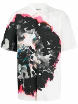 Alexander McQueen рубашка с цветочным принтом 609061QOO25