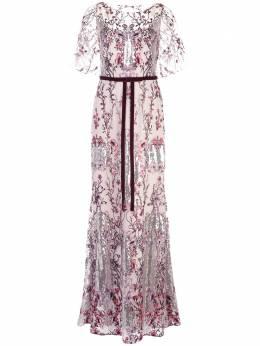 Marchesa Notte платье с вышивкой пайетками N37G1127