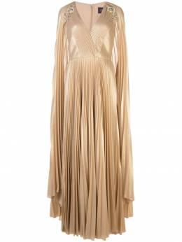 Marchesa Notte вечернее платье с плиссировкой N37K1172