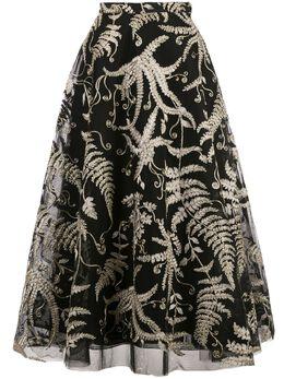 Marchesa кружевная юбка с вышивкой M27603A