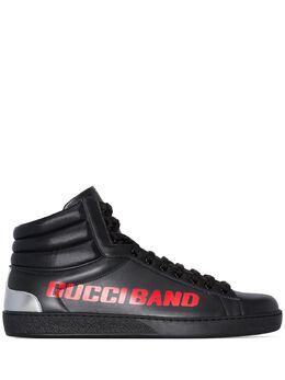 Gucci высокие кеды Ace с принтом Gucci Band 59928102JK0