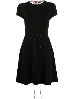 Bally приталенное платье с завязками 6233376