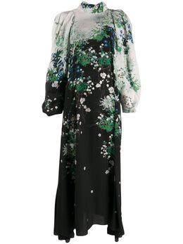 Givenchy длинное платье с цветочным принтом BW20UH12NB