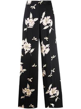 Etro брюки палаццо с цветочным принтом 133164385