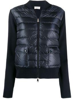 Moncler стеганая куртка на молнии F10939B50000A9001