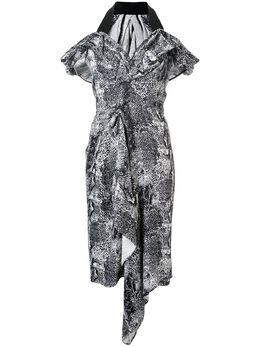 Maticevski платье с V-образным вырезом с графичным принтом DR4502A19