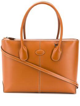 Tod's сумка-тоут с контрастной строчкой XBWDBAA0300RIIG807