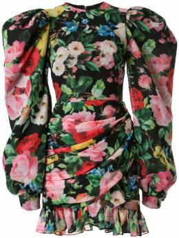 Richard Quinn платье мини с запахом и цветочным принтом RQSS2029CHIFFON