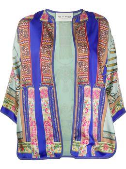 Etro жакет-кимоно с принтом 132764404
