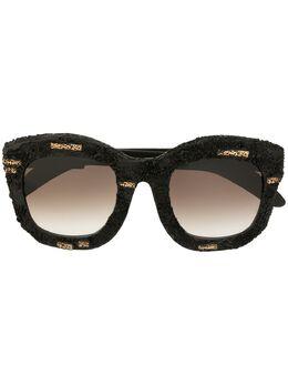 Kuboraum солнцезащитные очки в фактурной массивной оправе KRS0B2HS00FI00BW