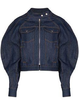 Eckhaus Latta джинсовая куртка с объемными рукавами 735ELPS20RIRAWINDIGO