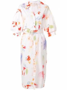 Peter Pilotto платье миди с поясом и цветочным принтом DR4020PS1005