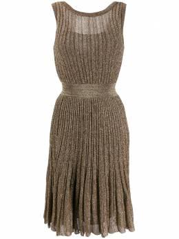 Missoni плиссированное платье с эффектом металлик MDG00219BK0474