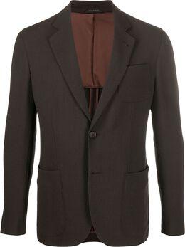 Giorgio Armani легкий пиджак на пуговицах 8WGGG02BT003N