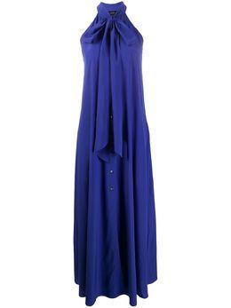 Aspesi длинное платье с вырезом халтер 29382753